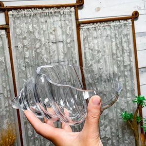 Glass SeaShell Display Bowl